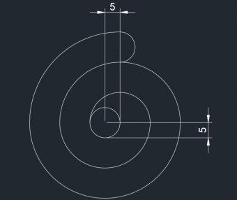 cad常见二维练习题视频讲解(3)