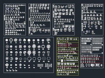 家装CAD平立面图库下载