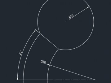 cad常见二维练习题视频讲解(5)