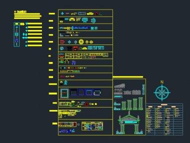 室内CAD动态图块及填充图例下载