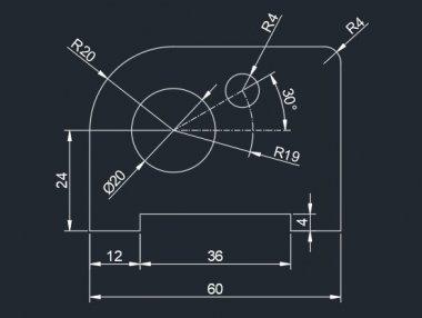 cad常见二维练习题视频讲解(2)