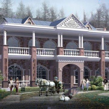 二层(20.6×8.8米)联排双拼别墅CAD图纸下载