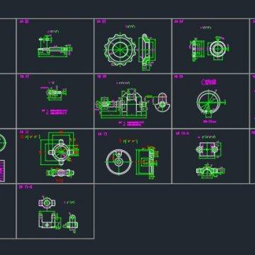 机械三视图cad练习题下载