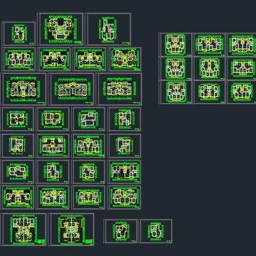 38套建筑室内户型图练习题下载