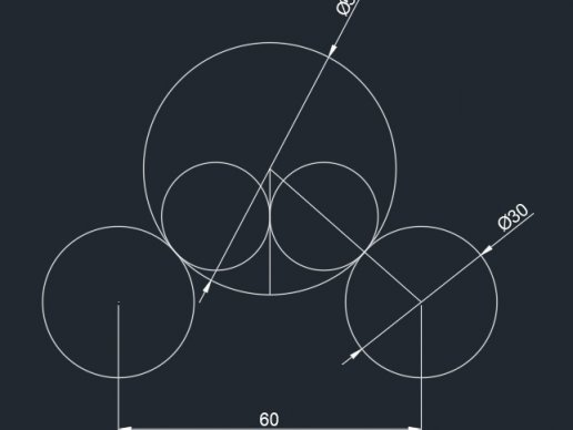 cad常见二维练习题视频讲解(8)